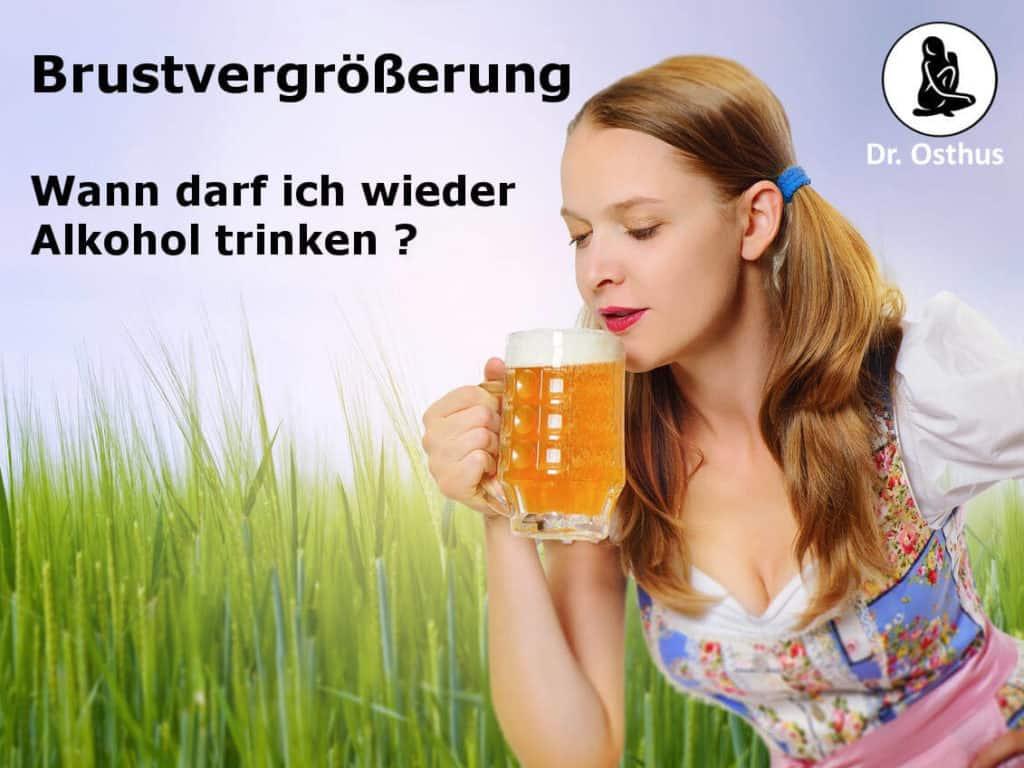 Wann darf ich nach meiner Brustvergrößerung Alkohol trinken?