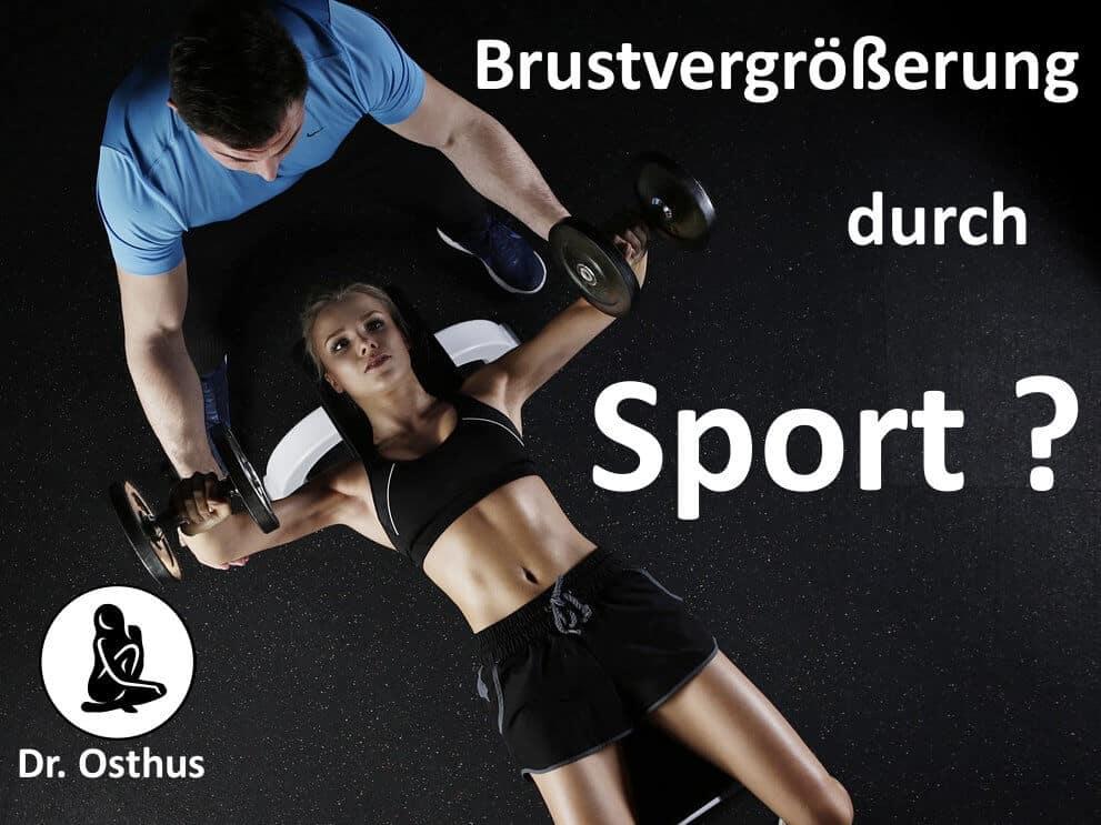 Brustvergrößerung durch Sport